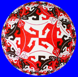 Hyperbolic Tessellations on the Spherical Plane by Kelvin Coles