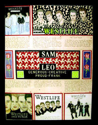 Westlife Fan Poster by Kelvin Coles